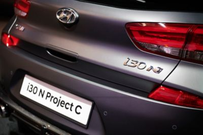 An image of the rear bumper of the all-new Hyundai i30 N Project C limited edition.