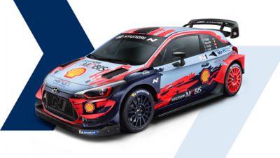 Side shot of Hyundai i20 Coupe WRC