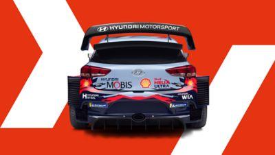 Rear of Hyundai i20 Coupe WRC