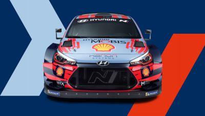 Przedni widok Hyundaia i20 Coupe WRC