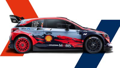Boczny widok Hyundaia i20 Coupe WRC