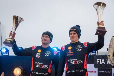 Ott Tänak and Martin Järveoja on the podium for the first time.