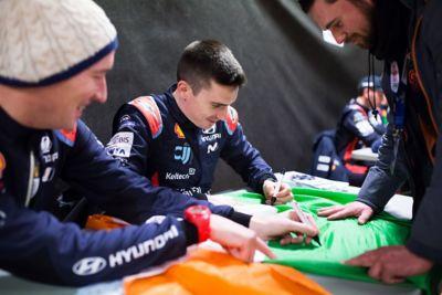 Hyundai Motorsport driver Craig Breen and co-driver Paul Nagle.