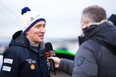 Paul Nagle in an interview in the Rally Arctiv Finland.