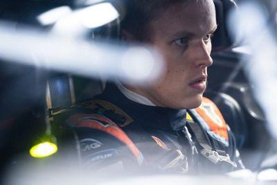 Hyundai Motorsport driver Ott Tänak concentrating in the Hyundai i20 Coupe WRC.