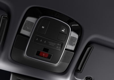 The E-call automatically calling emergency systems in the all-new Hyundai TUCSON Plug-in Hybrid SUV.