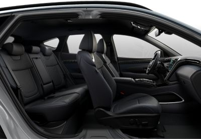 The increased roominess in the back of the all-new Hyundai TUCSON Plug-in Hybrid compact SUV.