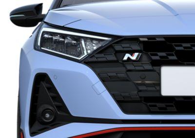 Icónico diseño de los faros del nuevo Hyundai i20 N.
