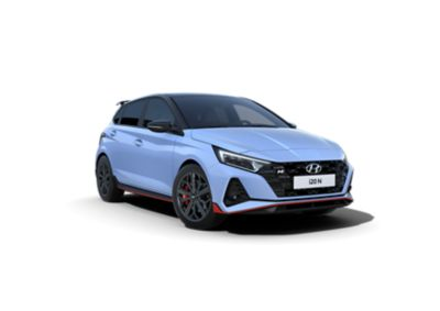 An image of the Phantom Black two-tone roof on the all-new Hyundai i20 N.