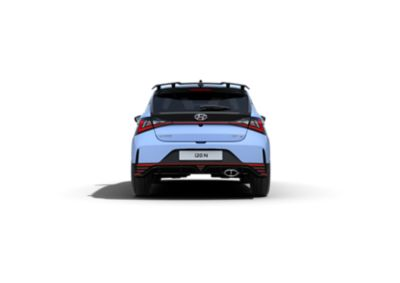 An image of the rear bumper with its accent marks on the all-new Hyundai i20 N.