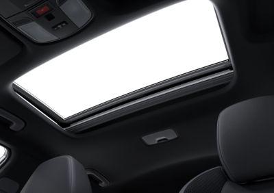 Sunroof of the Hyundai KONA N hot SUV