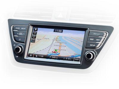 """Immagine del navigatore integrato da 7"""" di Hyundai i20"""