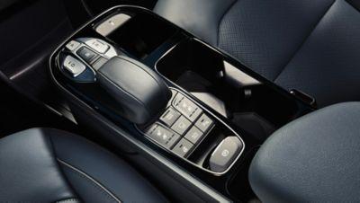 Dettaglio della console centrale di Nuova Hyundai IONIQ Electric.