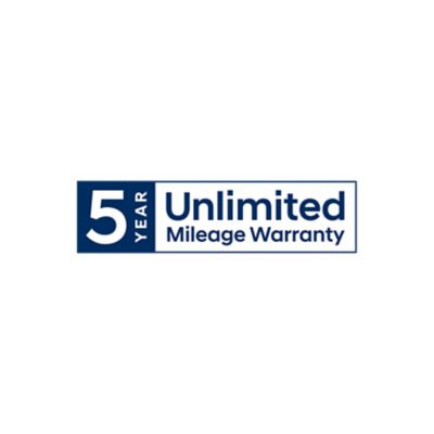 5 years of unlimited mileage warranty logo