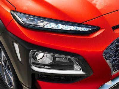 Dettaglio dei gruppi ottici al LED di Hyundai KONA
