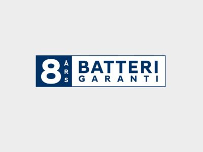 Garantilogo Hyundai Norge 8 år batterigaranti. Logo.