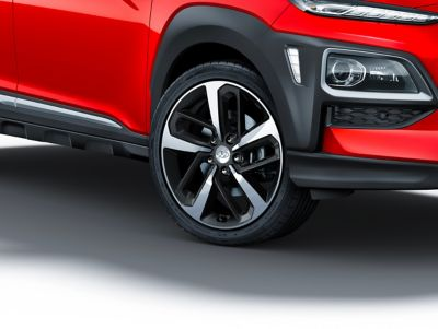 Dettaglio dei cerchi in lega di Hyundai KONA