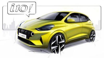 Hyundai i10 Nowej Generacji szkic