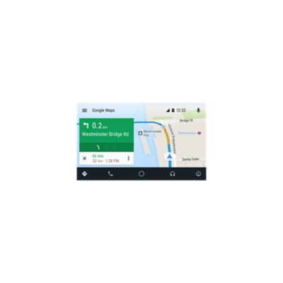 Screenshot of the navigation feature on Android Auto.