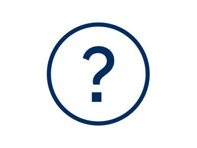 Online Showroom spørsmålssymbol. Ikon.