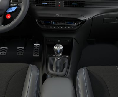 An image of the accessible USB ports in the all-new Hyundai i20 N.
