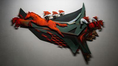 Kunstwerk van Guido Zimmerman, geïnspireerd door de Hyundai BAYON, de nieuwe, compacte crossover-SUV.