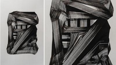Kunstwerk van Vincent de Boer, geïnspireerd door de compacte, maar elegante proporties van de Hyundai BAYON.