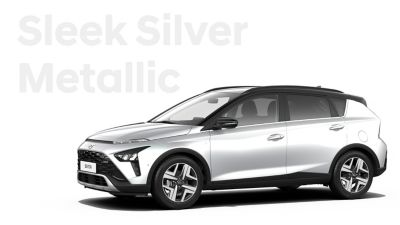 The different color options for the all-new Hyundai BAYON crossover SUV: Sleek Silver Metallic.