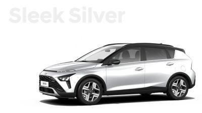 De carrosseriekleuren voor de Hyundai BAYON, de nieuwe, compacte crossover-SUV: Sleek Silver Metallic.