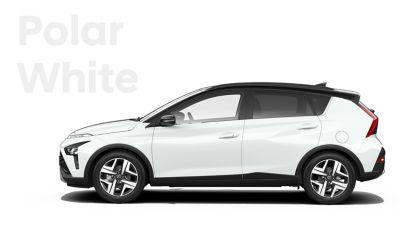De carrosseriekleuren voor de Hyundai BAYON, de nieuwe, compacte crossover-SUV: Polar White.