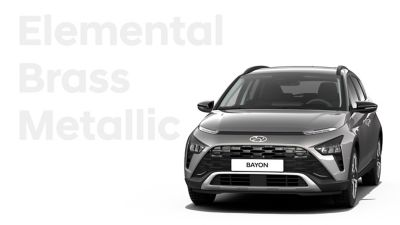 The different color options for the all-new Hyundai BAYON crossover SUV: Elemental Brass Metallic.