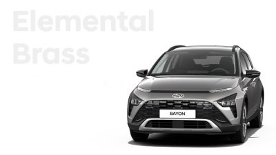 De carrosseriekleuren voor de Hyundai BAYON, de nieuwe, compacte crossover-SUV: Elemental Brass Metallic.