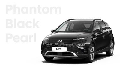 The different color options for the all-new Hyundai BAYON crossover SUV: Phantom Black Pearl.