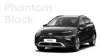 De carrosseriekleuren voor de Hyundai BAYON, de nieuwe, compacte crossover-SUV: Phantom Black Mica.
