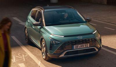 Het krachtige SUV-design van de Hyundai BAYON, de nieuwe, compacte crossover-SUV.
