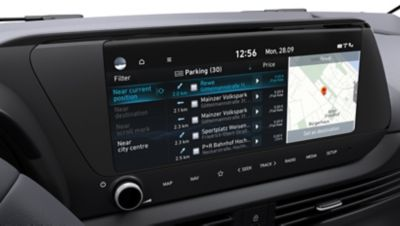 The Hyundai Bluelink® Connected Car Services: Live Parking Services.