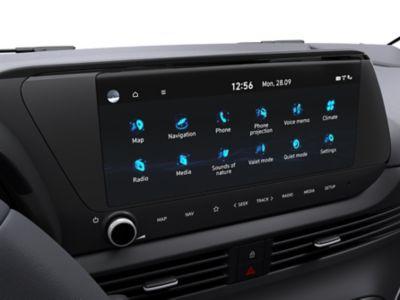 Het 10,25-inch Multimediascherm in de Hyundai BAYON, de nieuwe, compacte crossover-SUV.