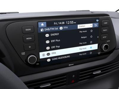 De 8-inch Display Audio in de Hyundai BAYON, de nieuwe, compacte crossover-SUV.
