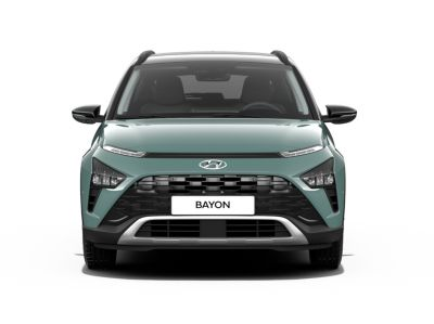 The high-tech looking details and clean look of the all-new Hyundai BAYON compact crossover SUV.