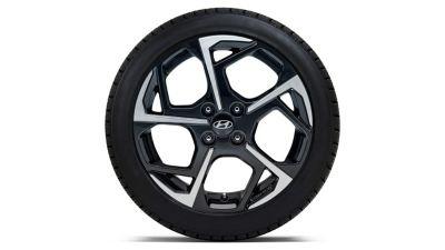 """Llanta de aleación de 16"""", bicolor, 6.0Jx16, compatible con los neumáticos 195/55 R16."""