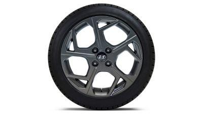 """Llanta de aleación de 16"""", grafito, 6.0Jx16, compatible con los neumáticos 195/55 R16."""
