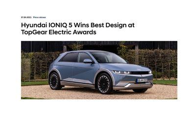 TopGear Electric Awards. Presseomtale.