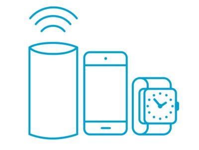 Icona di device tecnologici che rappresenta l'ampia fruibilità dell'app Bluelink.