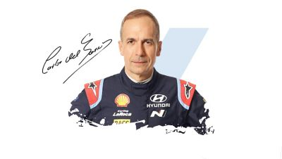 Hyundai Motorsport co-driver Carlos del Barrio and his signature
