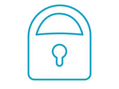 Icona di un lucchetto che rappresenta la funzione di apertura e chiusura a distanza di Nuova KONA Hybrid.