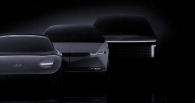 Hyundais nye IONIQ linje. Illustrasjon.