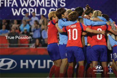 Zwycięska drużyna Korei podczas Mistrzostw Świata Kobiet FIFA Francja 2019.