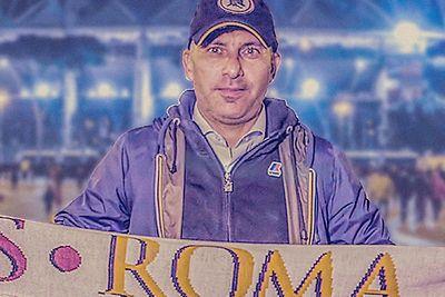 Zdjęcie Francesco, kibica AS Roma, który uczestniczył w ponad 450 grach.
