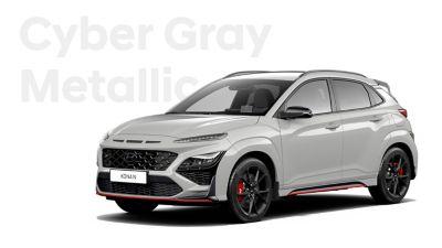 Hyundai KONA N performance SUV in Cyber Grey Metallic.