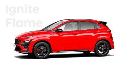 Hyundai KONA N performance SUV in Ignite Red.